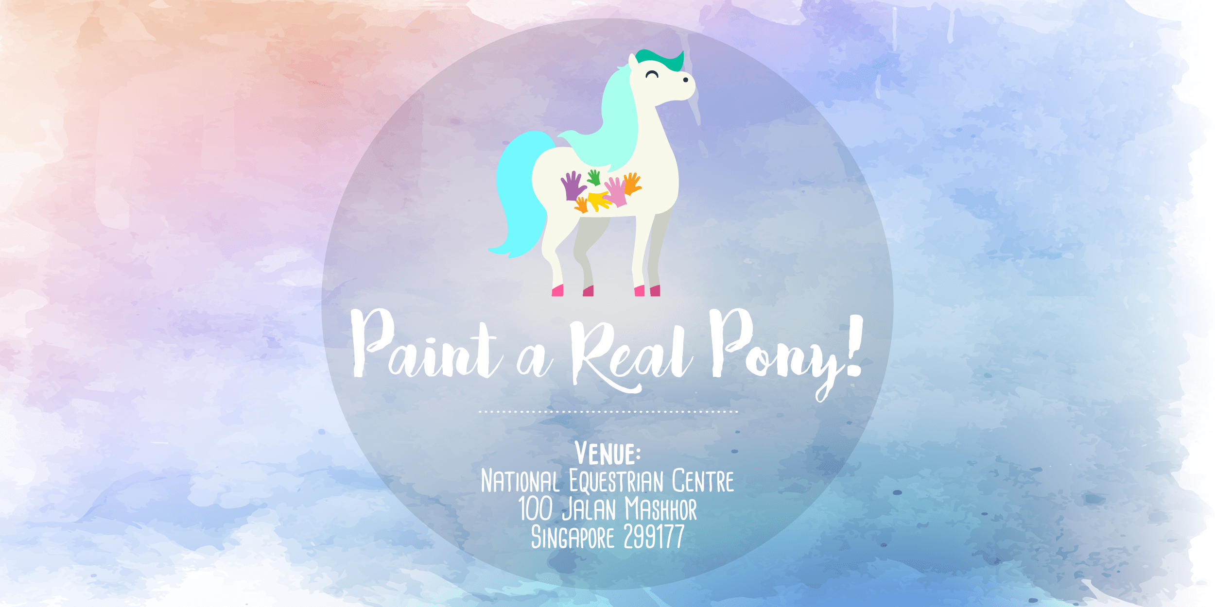 teach us how x arts for kids: Pony Painting